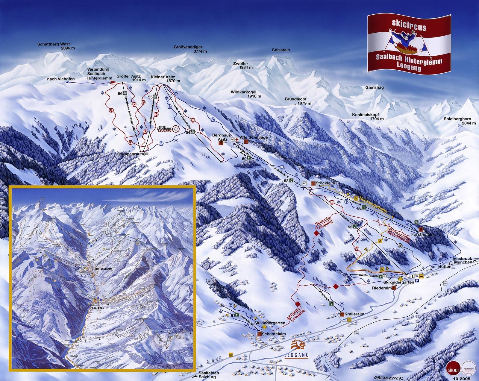 Sneeuwhoogte en weerbericht skigebied saalbach hinterglemm leogang