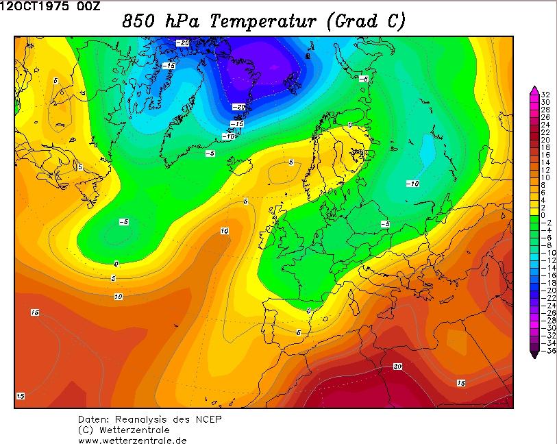 De koude lucht op 1500m hoogte was vooral op 12 oktober goed herkenbaar in de kaarten.