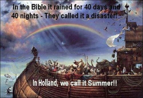 De tragiek van de Nederlandse zomer.