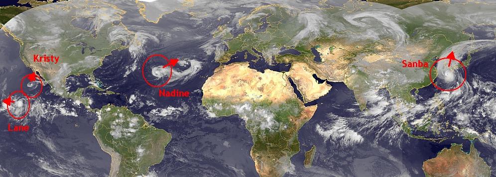 Alle vier de stormen in beeld