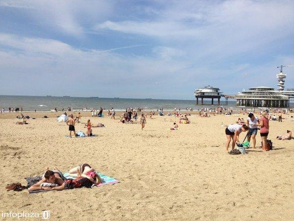 Het strand zal dit weekend heel wat drukker zijn dan op deze foto.