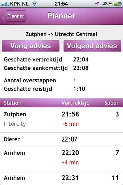 Een plaatje van de OVplaza app, binnenkort voor iPhone beschikbaar