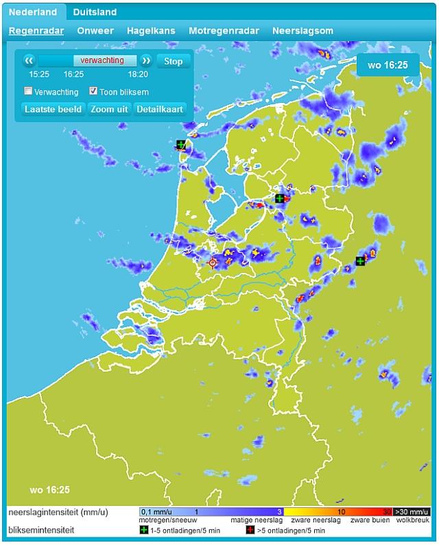 Voorbeeld van de continue vernieuwingen. Binnenkort lanceert Weerplaza een vernieuwde Regenradarpagina.