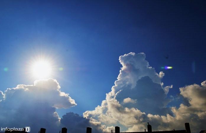 Laat de zon de strijd maar winnen tegen de wolken